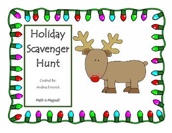 Holiday Math Scavenger Hunt