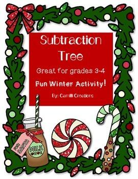 Holiday Math: Subtraction Tree