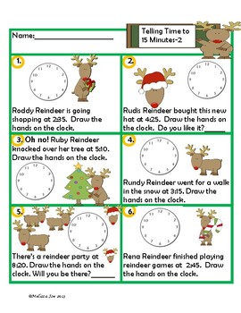 Math Worksheets---2nd Grade Perfect for Review Christmas Theme