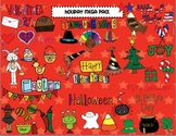 Holiday Mega Pack BLACK AND WHITE Clipart Set