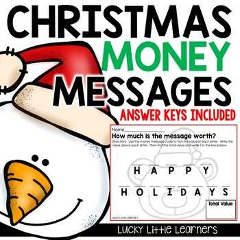 Christmas Money Messages (Christmas Activities)