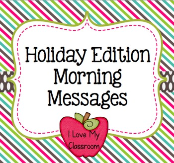 Holiday Morning Messages {Community Building Prompts}