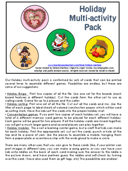 Holiday Multi-activity Pack.