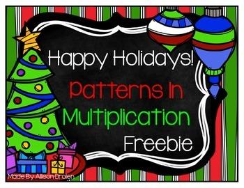Chirstmas Holiday Multiplication {Freebie}
