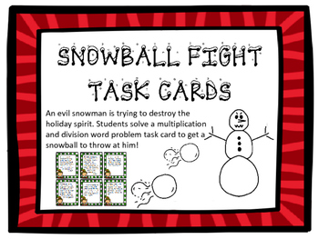 Holiday Multiplication and Division Word Problem Task Card