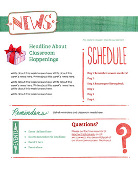 Google Docs Holiday Newsletter Template