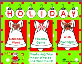 Holiday Nonsense Word Game (Featuring Rudolph and Santa!)