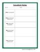 Holiday Note Sheets: Hannakuh, Kwanzaa, Christmas, Diwali,