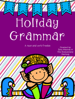 Holiday Noun and Verb Freebie