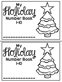 Holiday Number Book