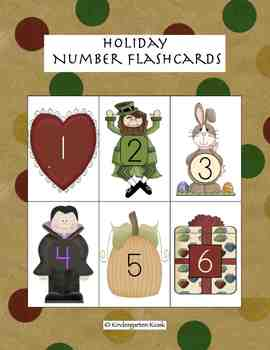 Holiday Number Flashcards