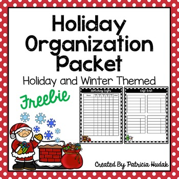 Holiday Organization Packet Freebie