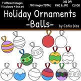 Holiday Ornaments - Balls Clip Art
