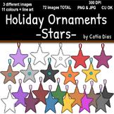 Holiday Ornaments - Stars Clip Art