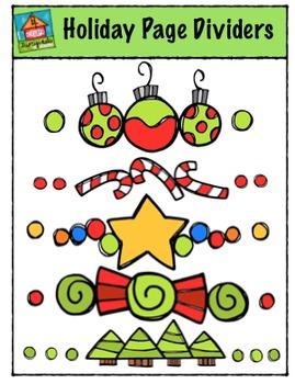 Holiday Page Dividers {P4 Clips Trioriginals Digital Clip Art}