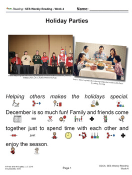 SES Weekly Reading: Holiday Parties