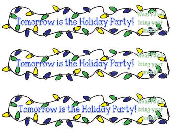 Holiday Party Reminder Bracelet