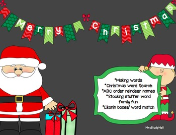 Holiday Phonics- Making Words, Word Search, ABC Order, Wor