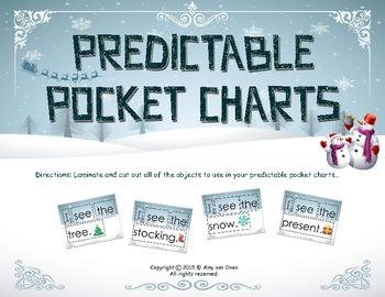 Holiday Predictable Pocket Chart