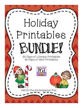Holiday Printables BUNDLE!