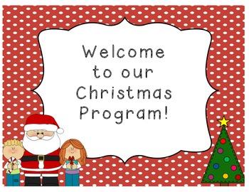 Holiday Program Signs