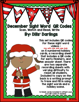 Holiday QR Code Sight Word Work