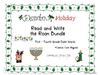 Holiday Read and Write the Room BUNDLE