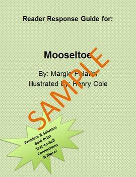 Holiday Reader Response Guide: Mooseltoe