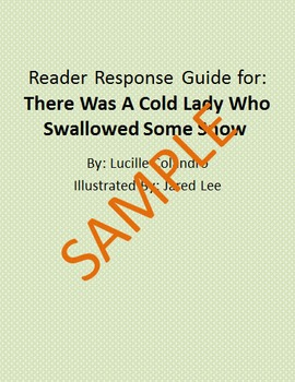 Holiday Reader Response Guide: There Was A Cold Lady Who S