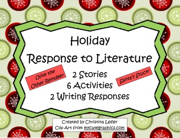 Holiday Response to Literature based on Olive the Other Re