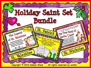 Holiday Saint Set Bundle:  St. Valentine, St. Patrick & St