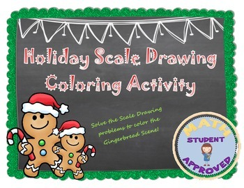 Holiday Scale Drawing Coloring Activity