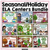 Year Long ELA Literacy Stations Holiday/Seasonal Bundle