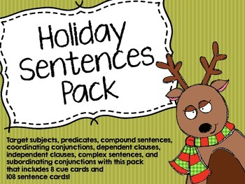 Holiday Sentences Pack