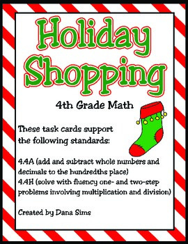 Holiday Shopping: One-Step and Multi-Step Word Problems