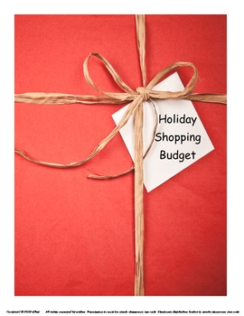 Holiday Shopping Budget Math Project