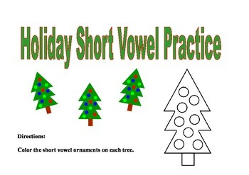 Holiday Short Vowel Practice
