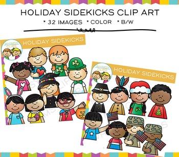 Sidekicks Holiday Clip Art