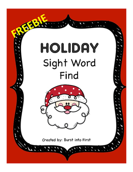 Holiday Sight Word Find