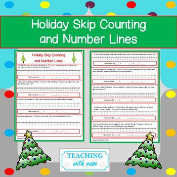 Holiday Skip Counting and Number Lines