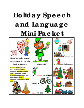 Holiday Speech and Language Mini Packet
