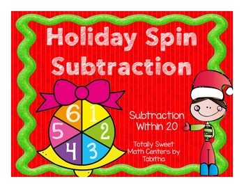 Holiday Spin Subtraction- Subtraction Spinner Center!