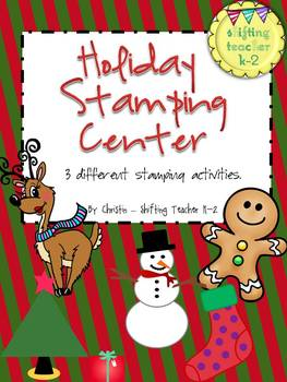 Holiday Stamping Center - reindeer, gingerbread, Christmas