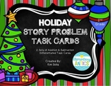 Holiday Word Problem Task Cards