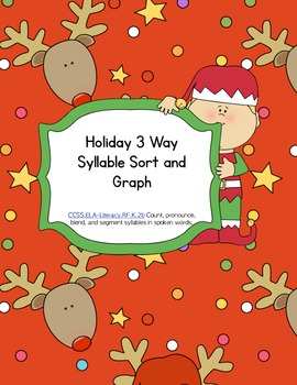 Holiday Syllable Sort and Graph (common core aligned)