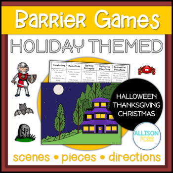 Holiday Themed Barrier Games: Halloween, Thanksgiving, Christmas