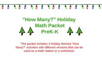 Winter Themed Counting Math Packet