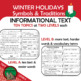 Holiday Symbols & Traditions Reading Passages Writing Prom