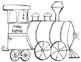 Christmas & Holiday Train Writing and Art Activity