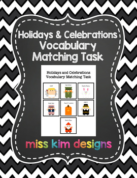 Holiday Vocabulary Folder Game for Early Childhood Special